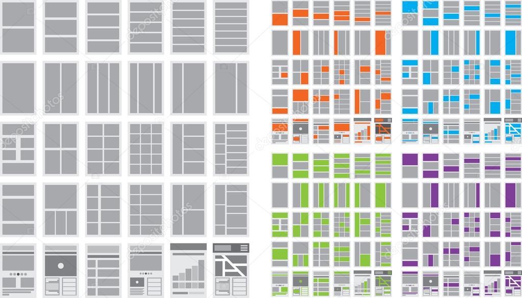 Illustration der Website Flussdiagramme und Website Karten ...