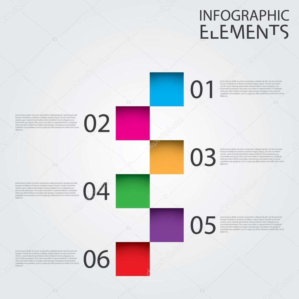 Illustration of Modern infographic chart