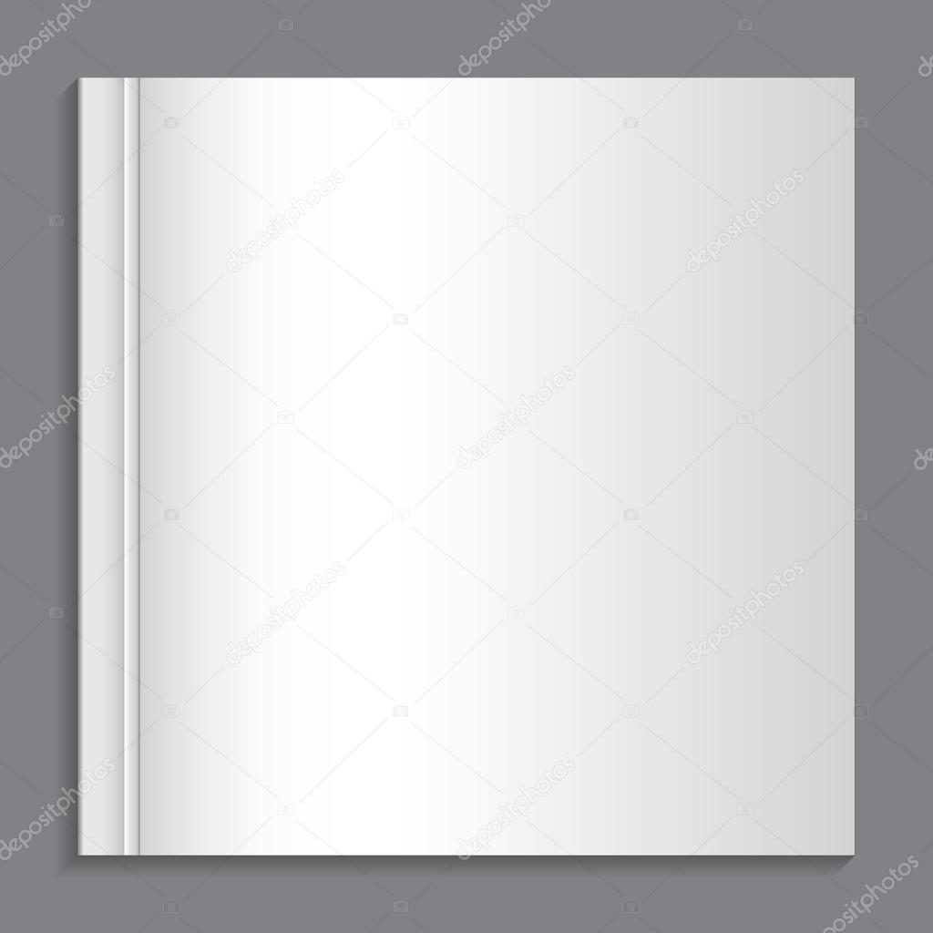 Where Is The Illustration On The Front Cover Of A Book ~ Illustration of a book with a blank front cover u stock vector