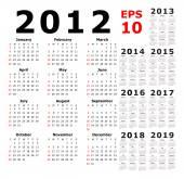 Kalendář - 2012 - 2019 - základní