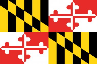 The flag of the United States of America State Maryland