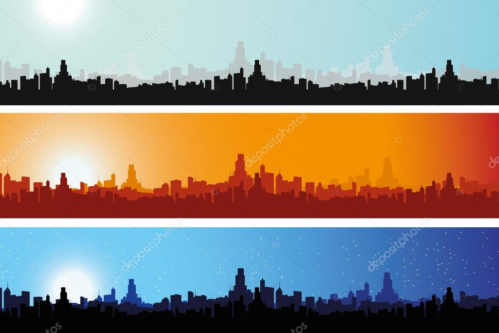 City Scape at different times of the day