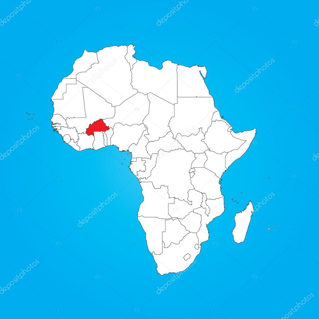 Carte Afrique Burkina Faso.Carte De L Afrique Avec Un Pays Selectionne Du Burkina Faso