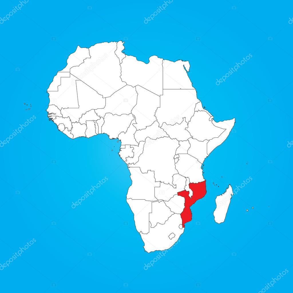 Mapa de frica con un seleccionado pas de mozambique fotos de mapa de frica con un seleccionado pas de mozambique fotos de stock gumiabroncs Images