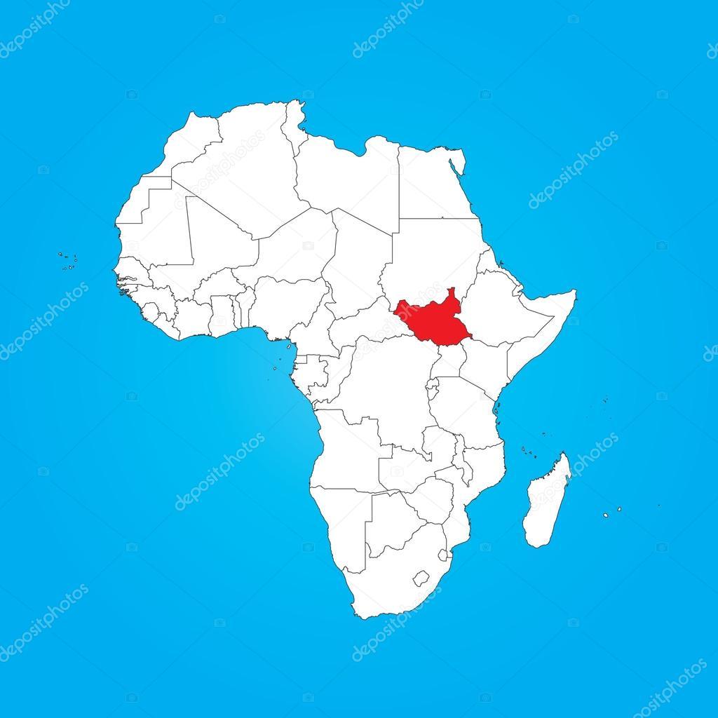 Carte Afrique Avec Soudan Du Sud.Carte De L Afrique Avec Un Pays Du Sud Soudan Photographie