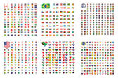 Fotografie Illustrated Set of World Flags - Square - Shield - Circle - Hear