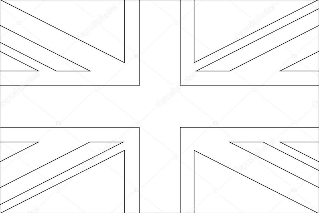 Ilustración esqueleto de bandera del país del Reino Unido — Foto de ...