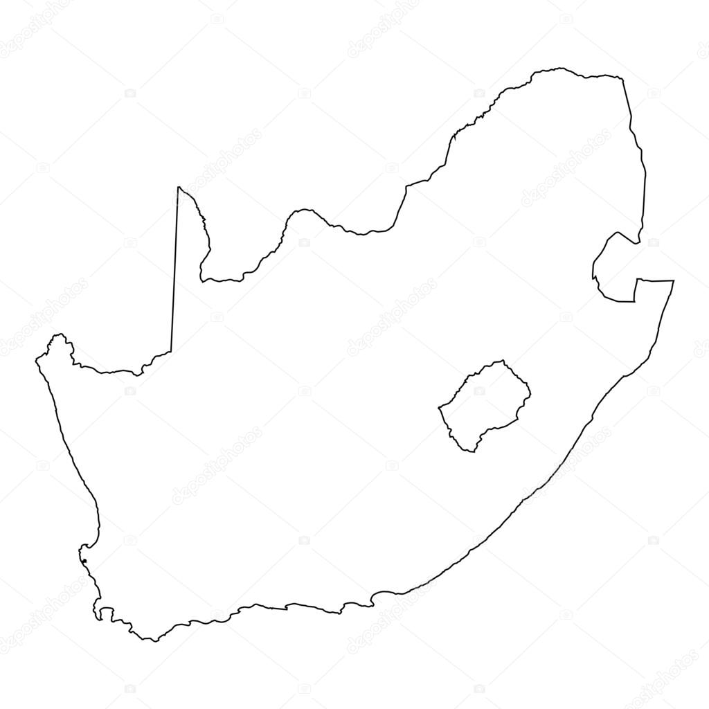 Picture of: High Detailed Outline Of The Country Of South Africa Stock Vector C Paulstringer 81362256