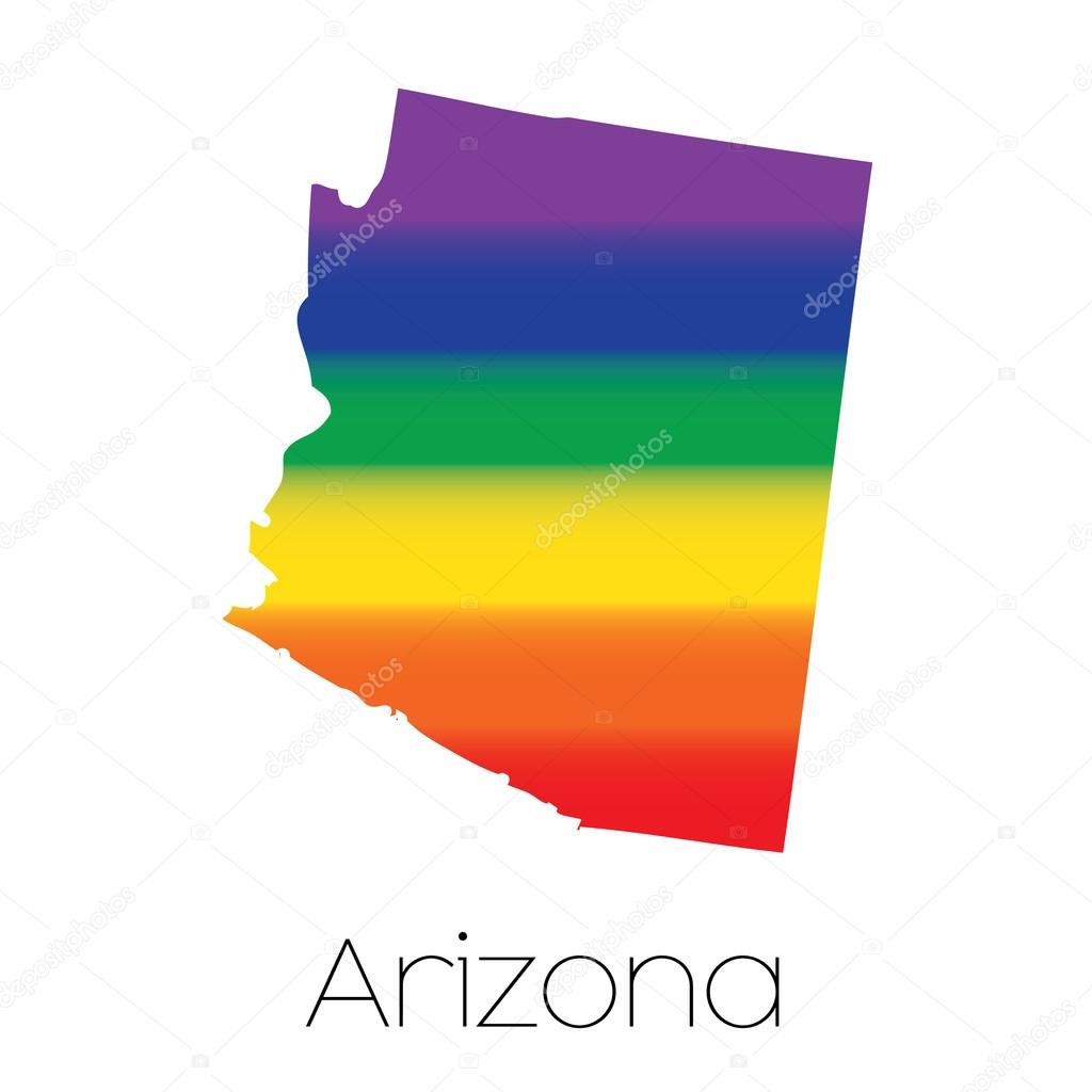 LGBT Flag inside the State of Arizona