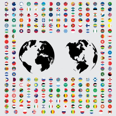 Illustrations of the Flags of the World