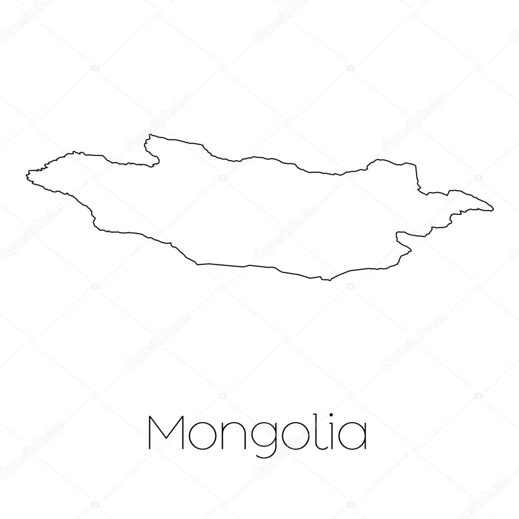 country shape isolated on background of the country of mongolia Mongolia Culture a country shape isolated on background of the country of mongolia vector by paulstringer
