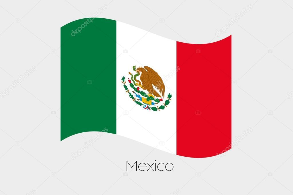 Bandera De Mexico Ondeando Dibujo