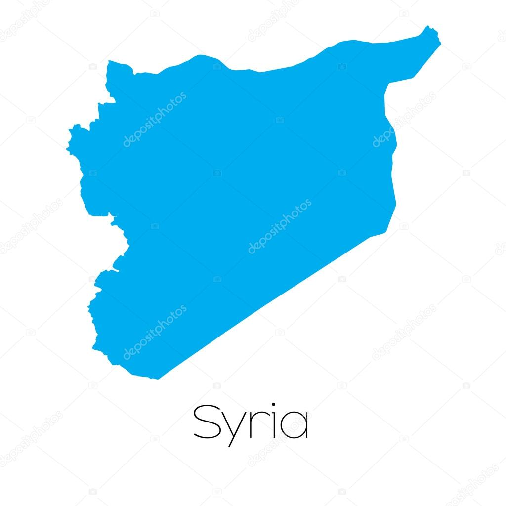 A Blue shape with name of the country of Syria \u2014 Vector by PaulStringer