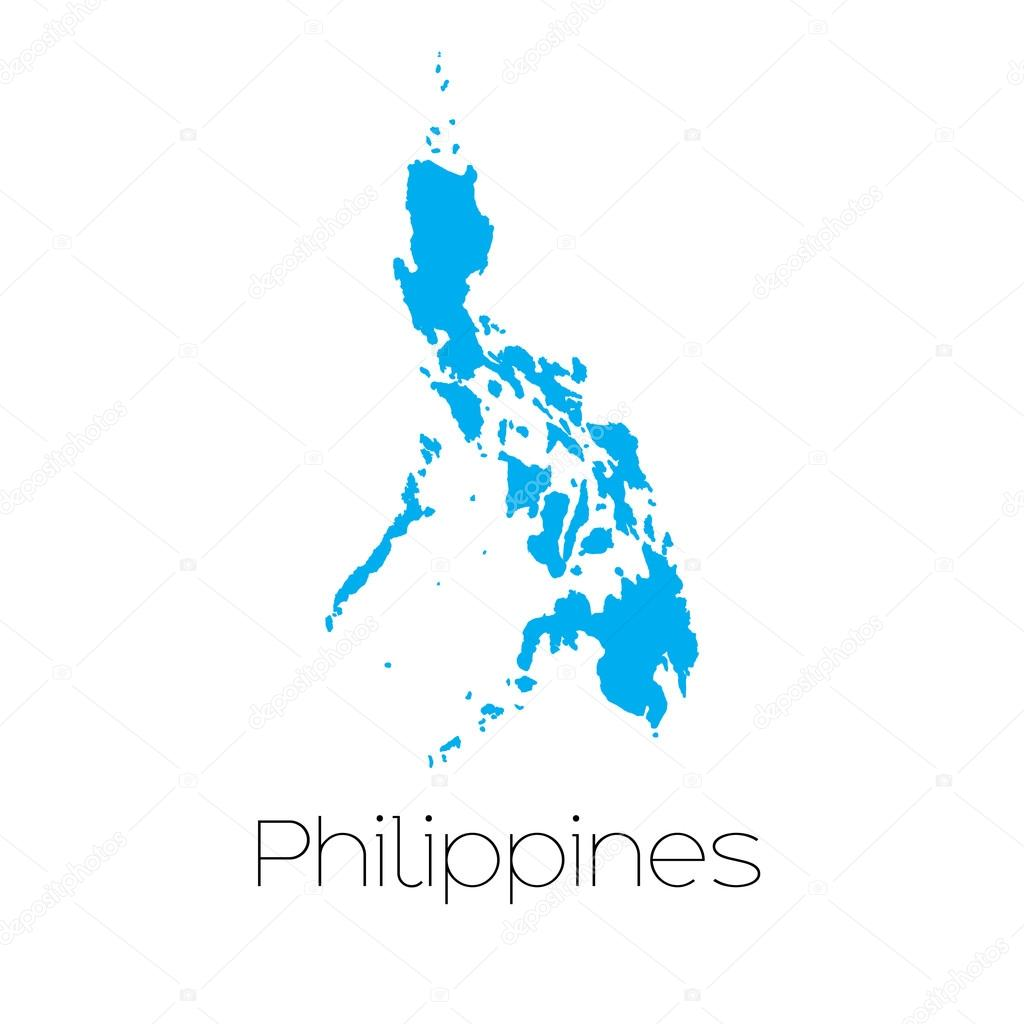 A Blue shape with name of the country of Philippines \u2014 Vector by PaulStringer