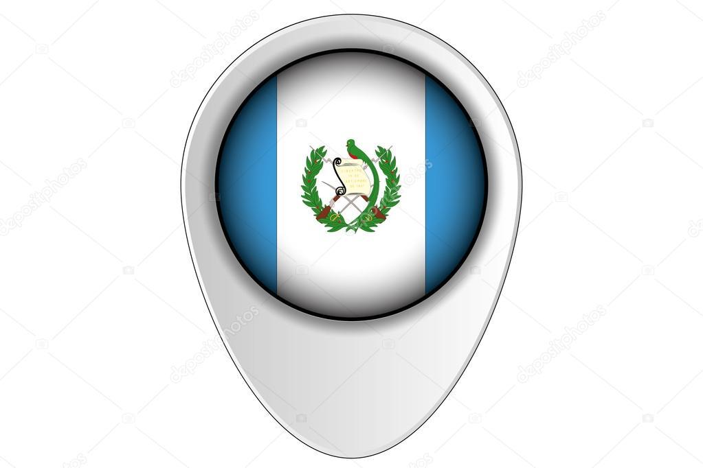 Puntero De Ubicación: 3D Ilustración De Mapa Puntero Bandera Del País De