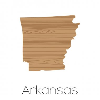 Illustrated Shape of the State of  Arkansas