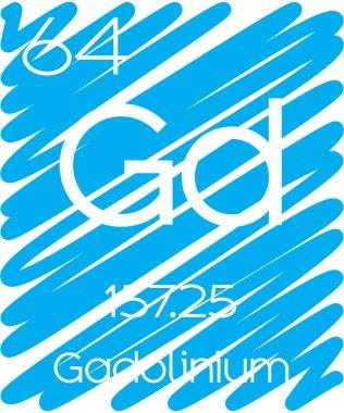Informative Illustration of the Periodic Element - Gadolinium