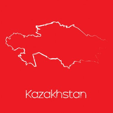 Map of the country of Kazakhstan