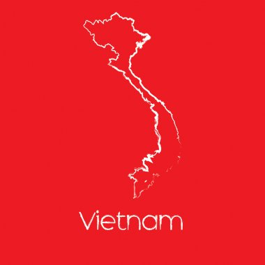 Map of the country of Vietnam