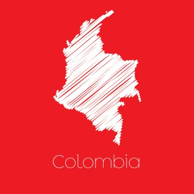 Map of the country of Colombia
