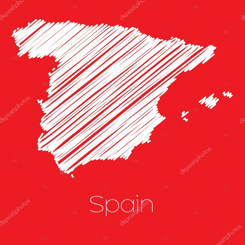 Country Of Spain Map.Map Of The Country Of Spain Stock Vector C Paulstringer 83868004
