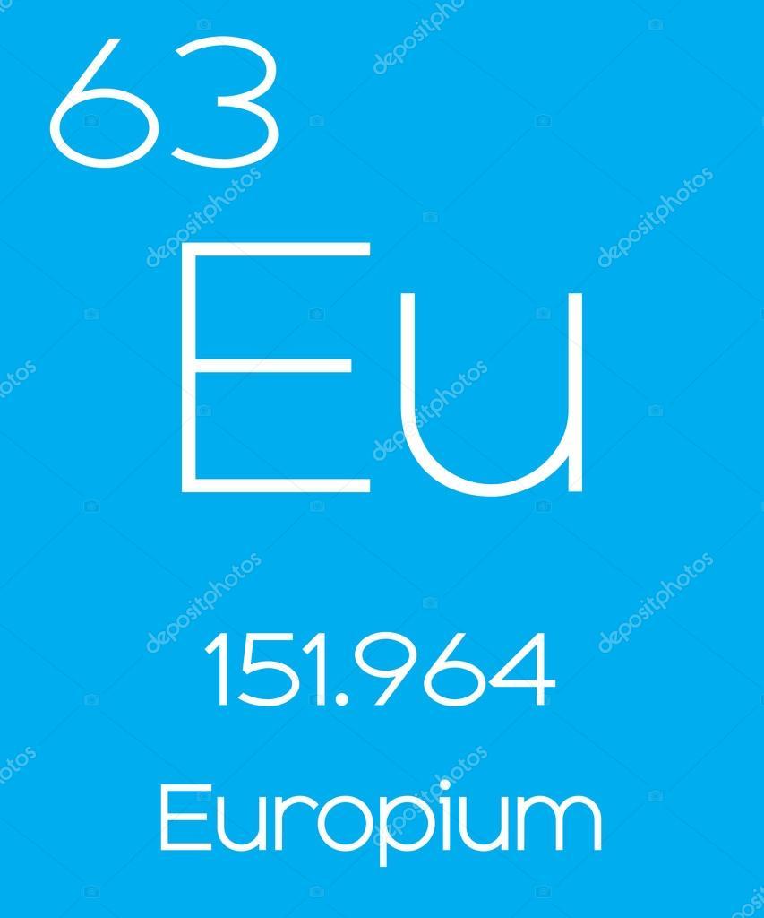 Informative Illustration Of The Periodic Element Europium Stock
