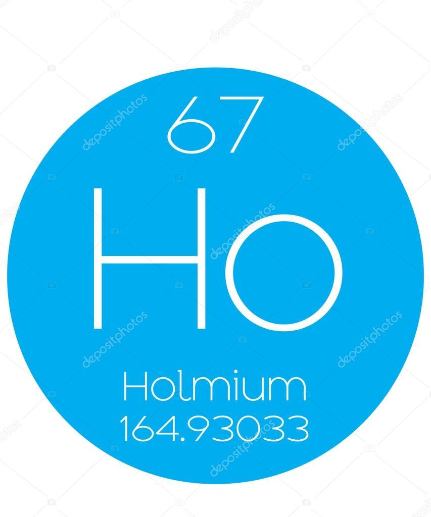 Informative Illustration Of The Periodic Element Holmium Stock