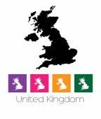 Mapa země Velká Británie