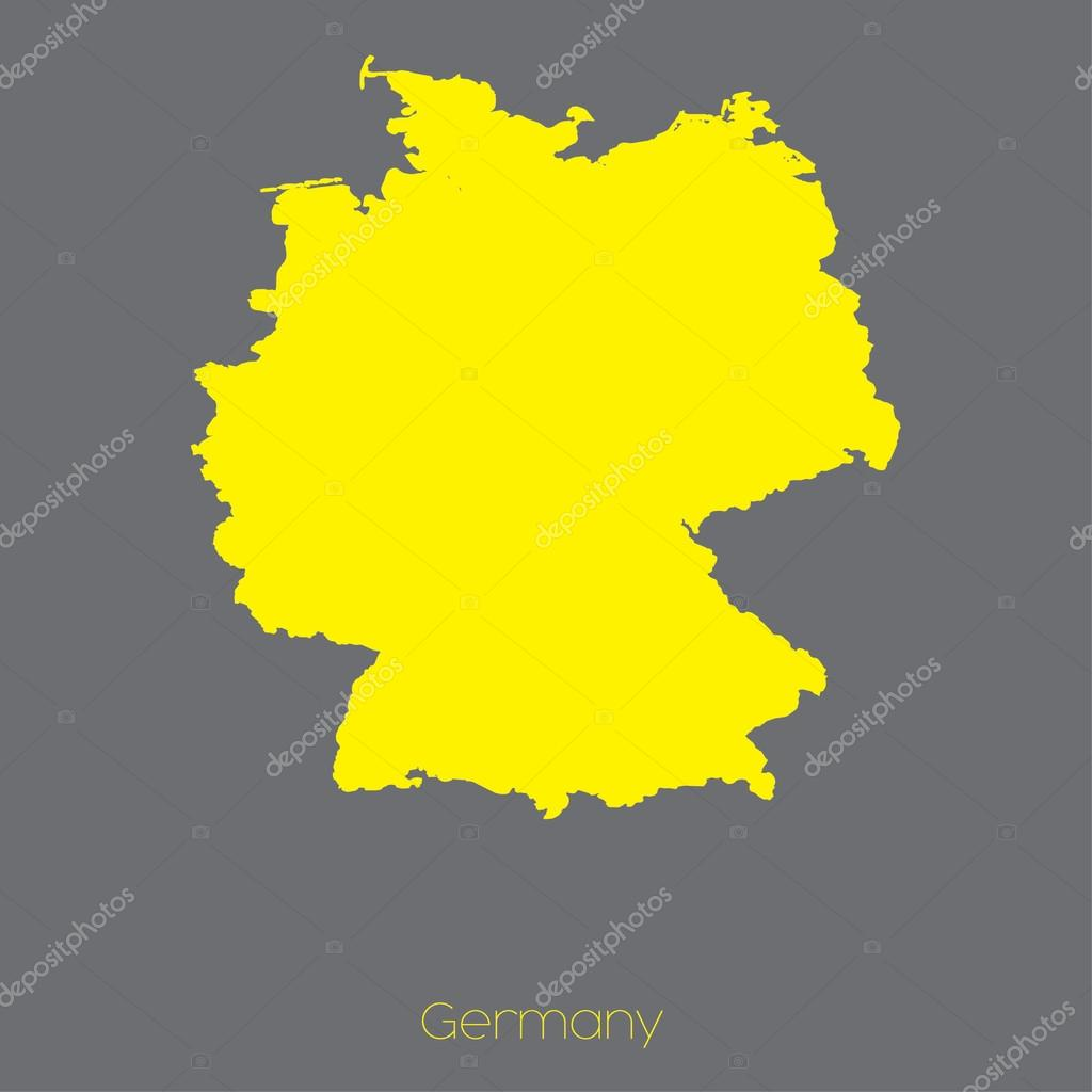 Country Of Germany Map.Map Of The Country Of Germany Stock Vector C Paulstringer 84252822