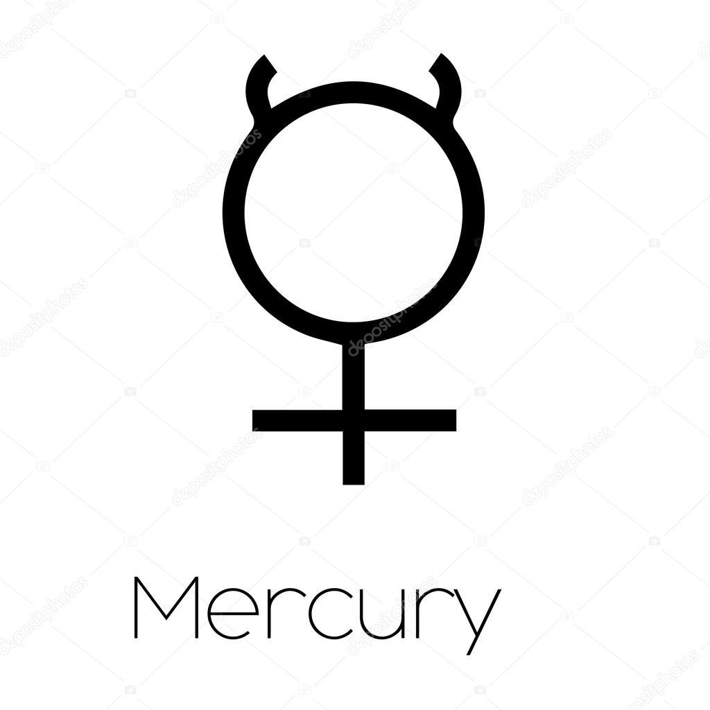 Planet symbols mercury stock vector paulstringer 86419418 illustrated planet symbols mercury vector by paulstringer buycottarizona Choice Image