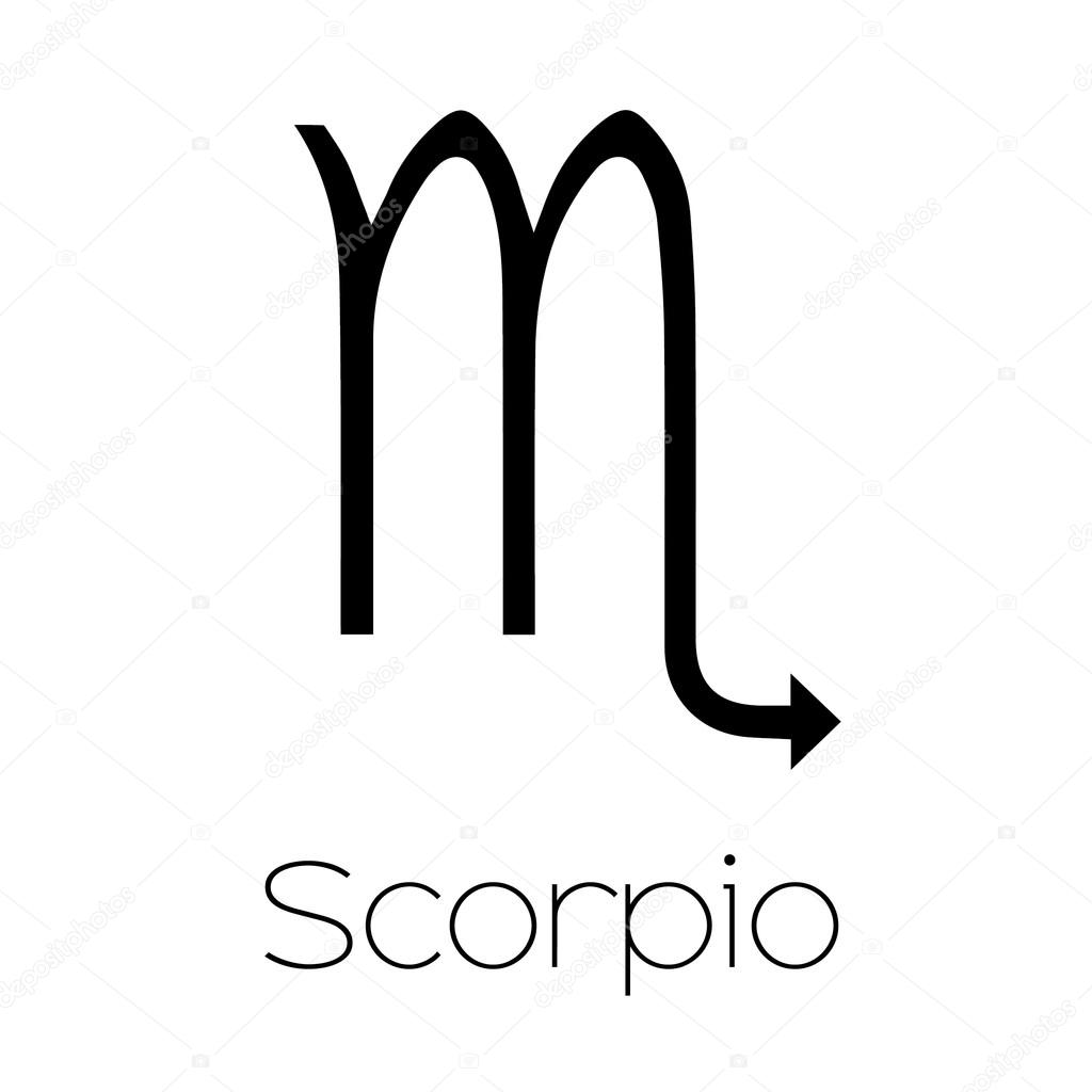 Illustrated Zodiac Symbol Scorpio Stock Vector Paulstringer