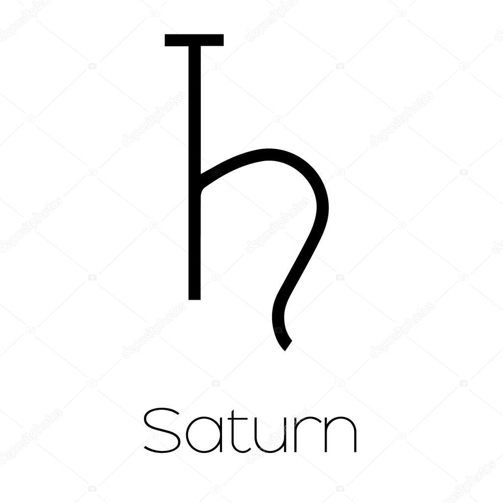 Planet Symbols Saturn Stock Vector Paulstringer 87578862