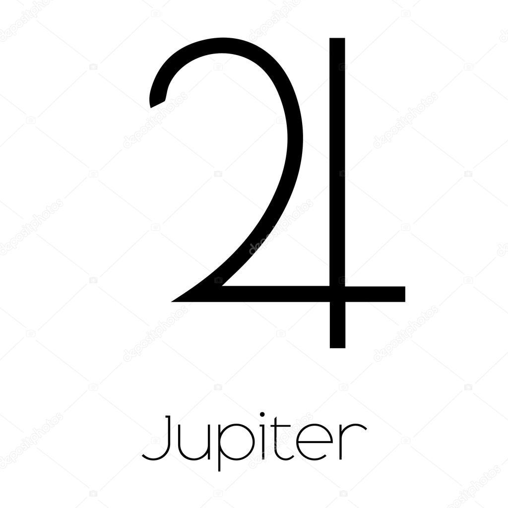 planet symbols jupiter � stock vector 169 paulstringer