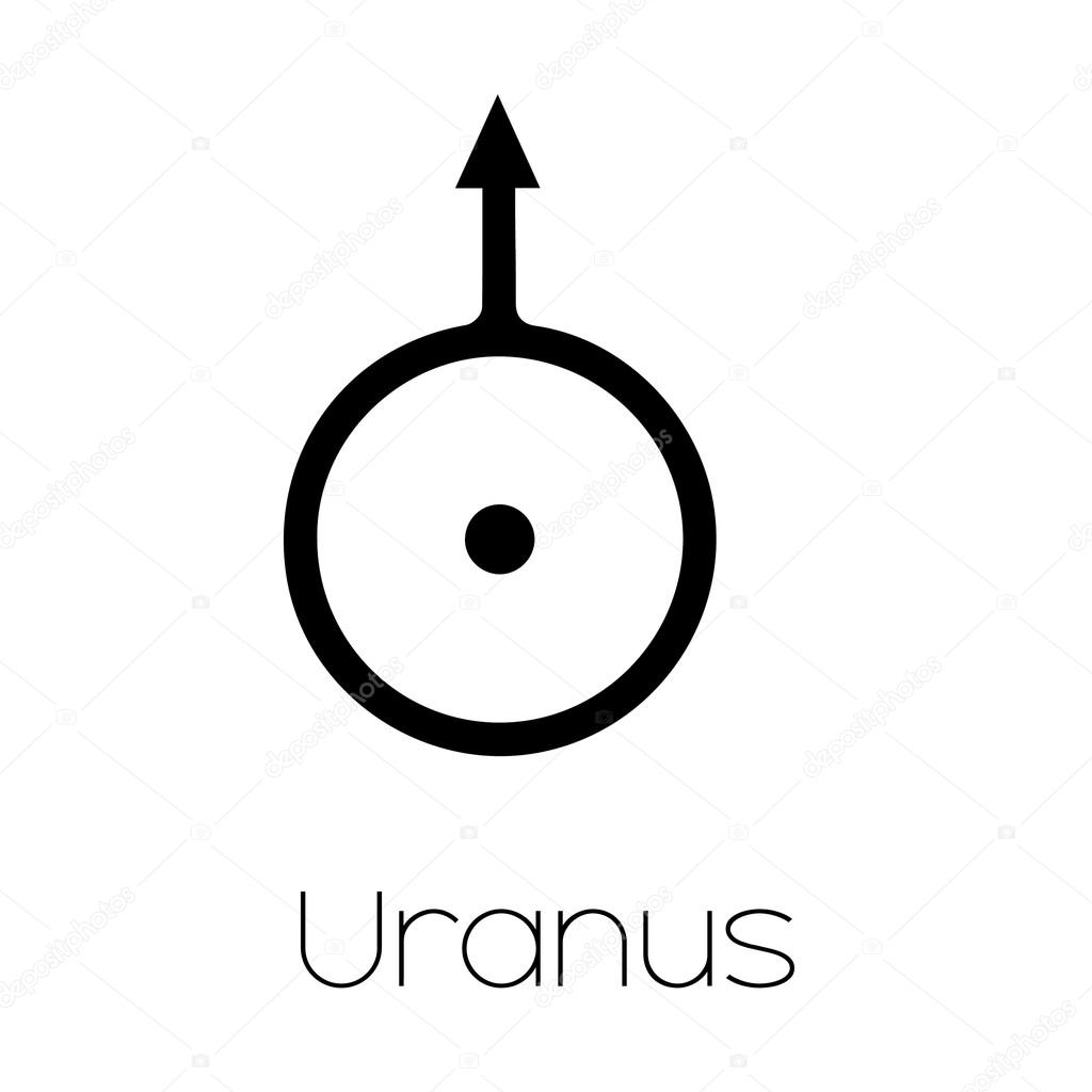 Planet Symbols Uranus Stock Vector Paulstringer 87580670