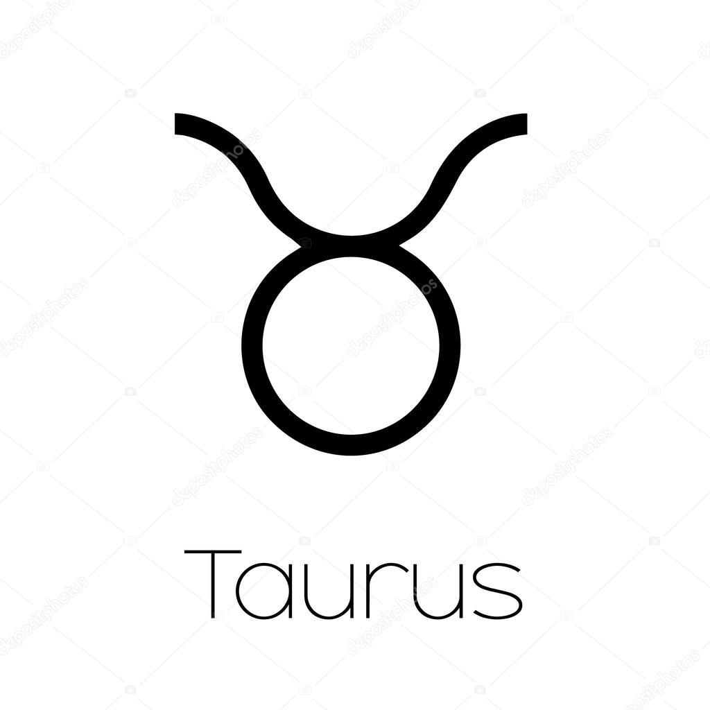 Ilustrowane Symbol Znak Zodiaku Byk Grafika Wektorowa