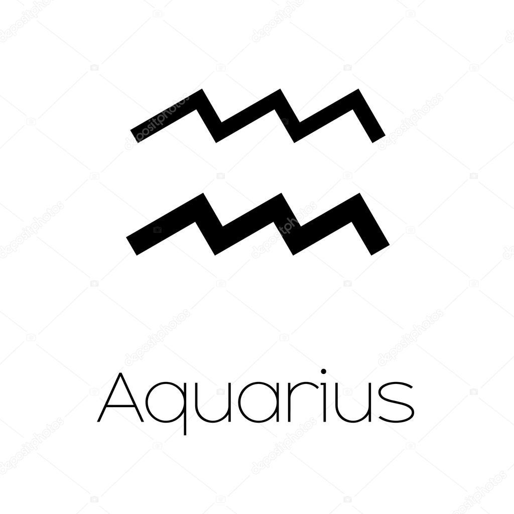 Illustrated zodiac symbol aquarius stock vector paulstringer illustrated zodiac symbol aquarius stock vector biocorpaavc Image collections