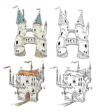 Fantasy castles  illustration