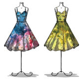 Fotografie Dummies with dresses. Fashion illustration.
