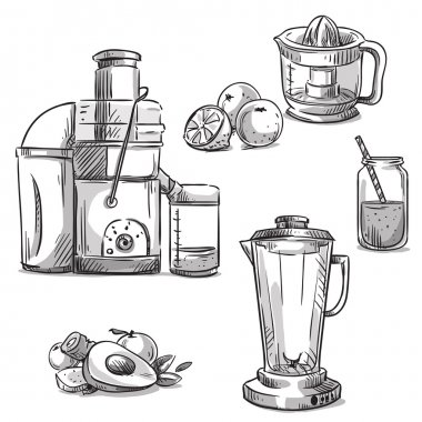 Juicers. Juicing machines. Blender. Healthy diet.