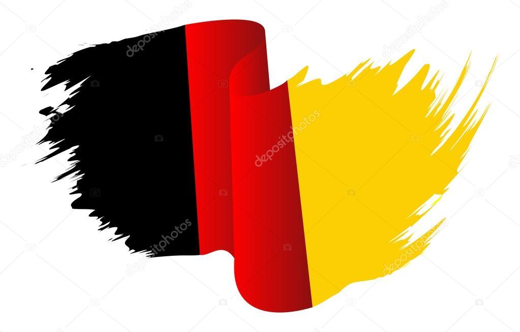 deutschland flagge vektor icondesign symbol deutsche flagge farbe isoliert auf wei em. Black Bedroom Furniture Sets. Home Design Ideas