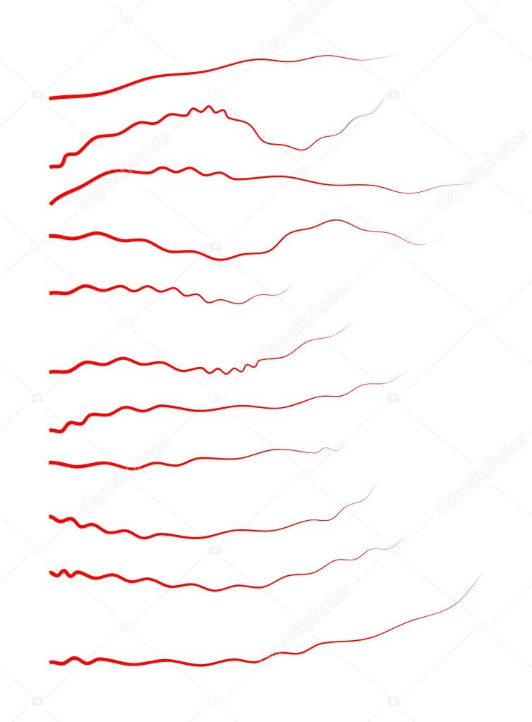 Human Veins Red Blood Vessels Design Vector Illustration Isolated