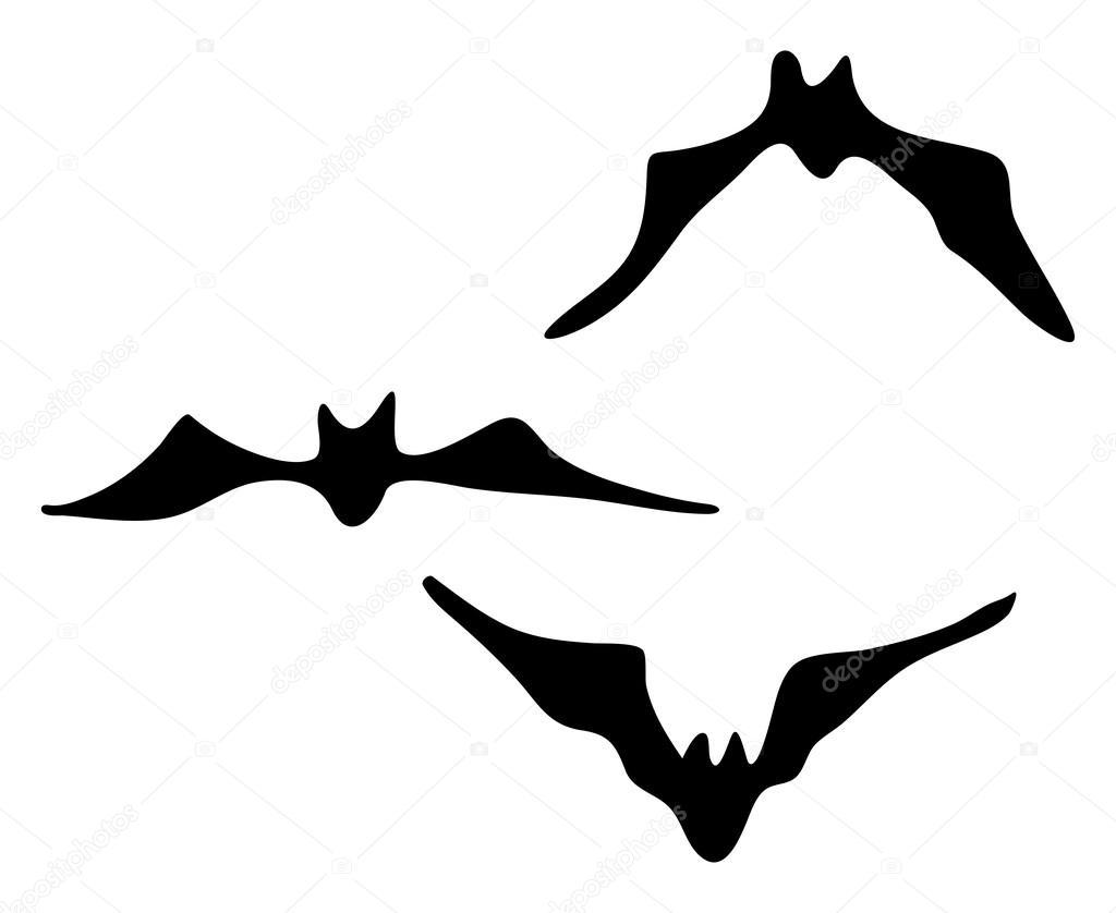 halloween creepy scary bat silhouette vector symbol icon design stock vector