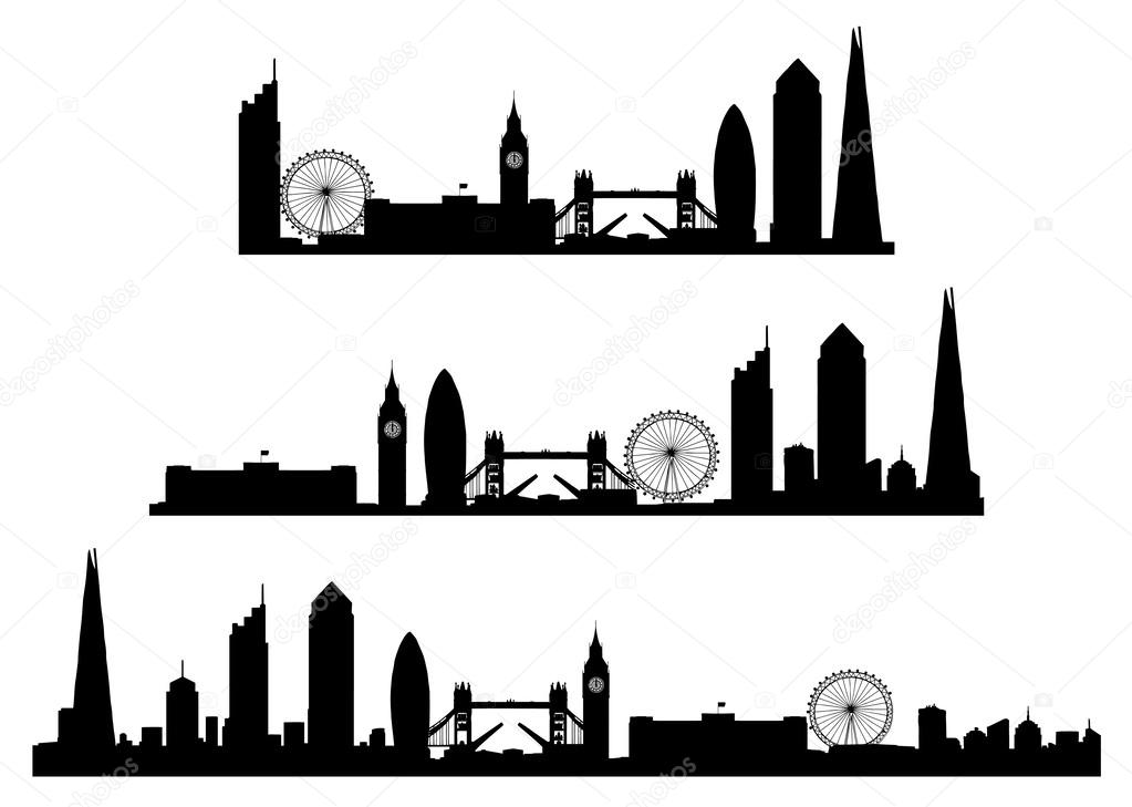 Silhouette Of The London Skyline Stock Vector