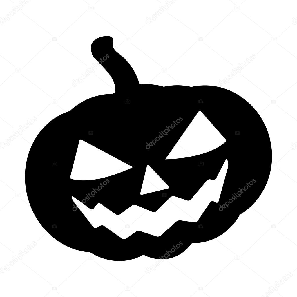 Halloween pumpkin silhouette vector illustration jack o lantern halloween pumpkin silhouette vector illustration jack o lantern isolated on white background scary orange biocorpaavc Choice Image