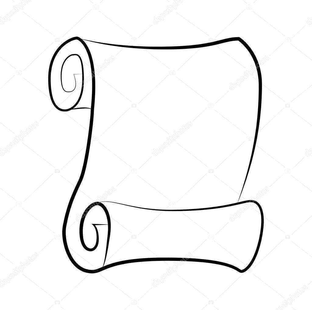 Vector de papel en blanco vintage desplazamiento silueta - Papel para dibujar ...
