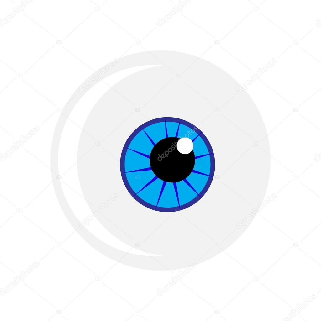 halloween eyeball vector symbol blue eye illustration isolated on rh depositphotos com eyeball vector free download flying eyeball vector