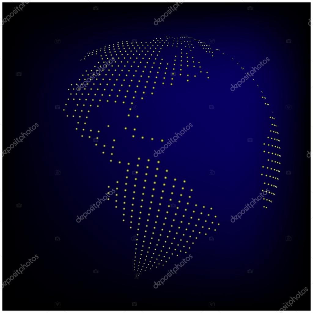 Globe earth world map abstract dotted vector background blue globe earth world map abstract dotted vector background blue wallpaper illustration stock vector gumiabroncs Gallery