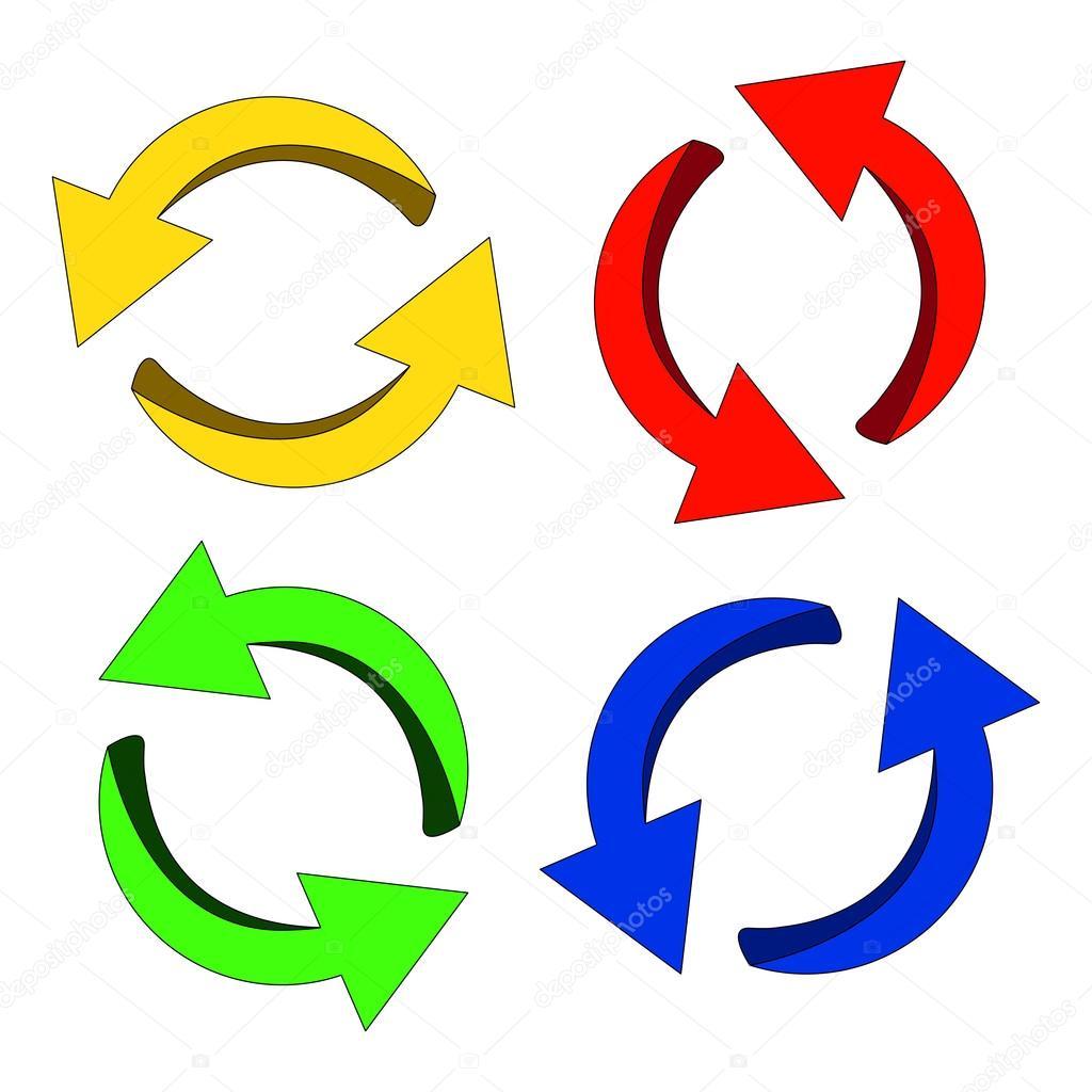 矢印記号カラフルなアイコン クリップアート サイクル ビジネス