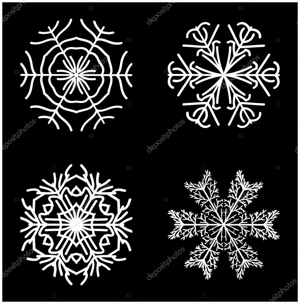 Icona Della Siluetta Del Fiocco Di Neve Simbolo Disegno