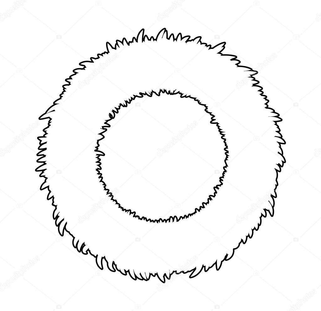 Christmas Wreath Silhouette.Christmas Wreath Silhouette Vector Symbol Icon Design